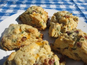 Finished product - scones!